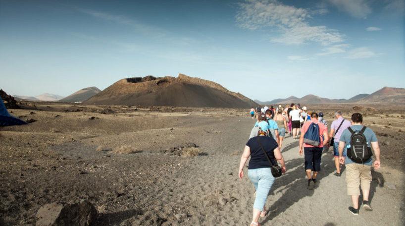 Turistas en las islas Canarias