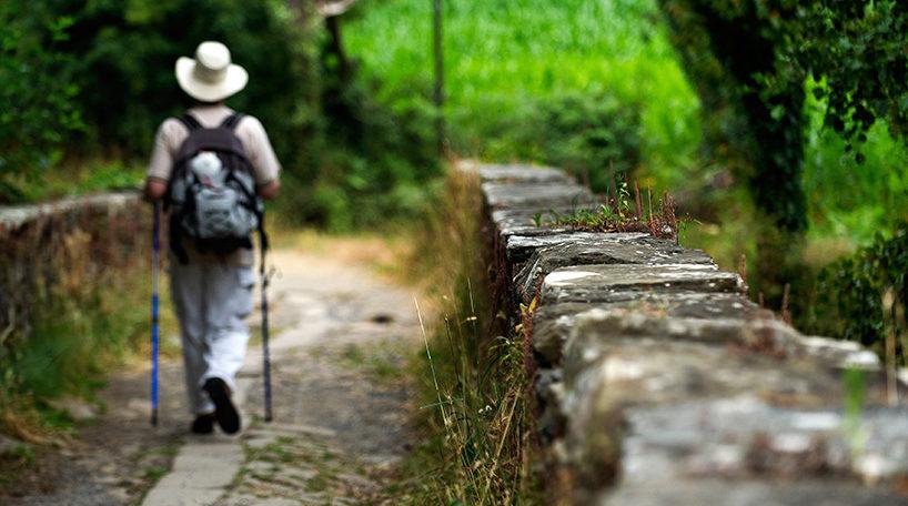 Peregrino en el Camino de Santiago
