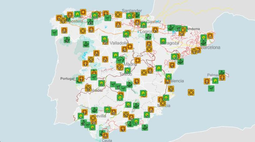 El mapa digital interactivo del Instituto Geográfico Nacional