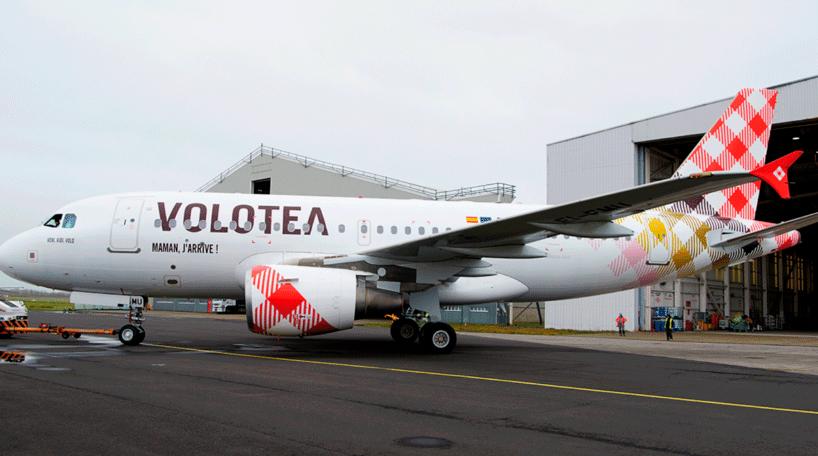 Uno de los más de 30 aviones que opera Volotea