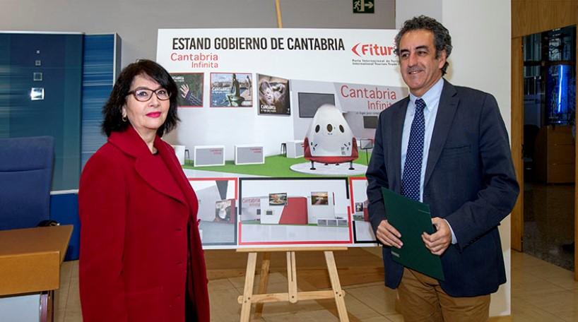 EL stand de Cantabria en Fitur