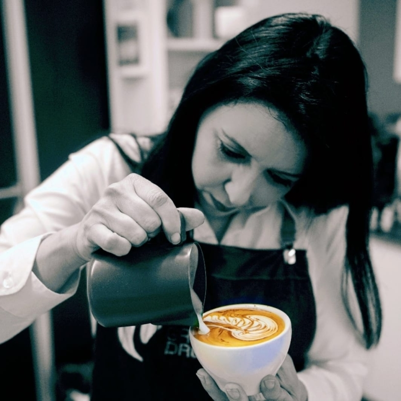 La Campeona de Latte Art de España, Karen Quiroga