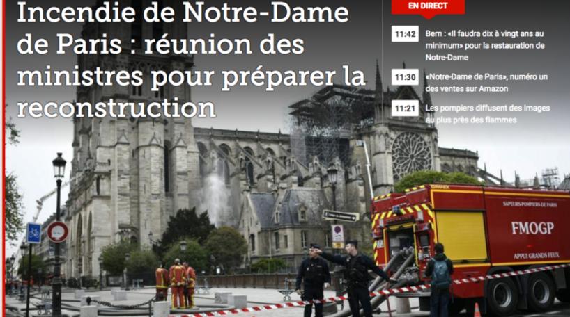 Incendio en Notre-Dame